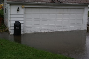 That's our garage - yes it's submerged in about 12 inches of water.
