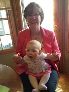 Lizzie and Nana hanging out in their Easter best